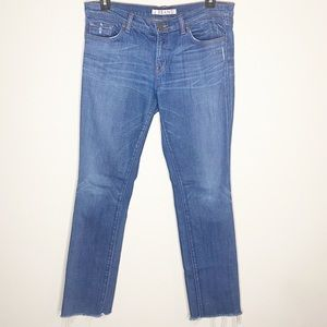 J BRAND Pencil Leg Raw Hem Jeans